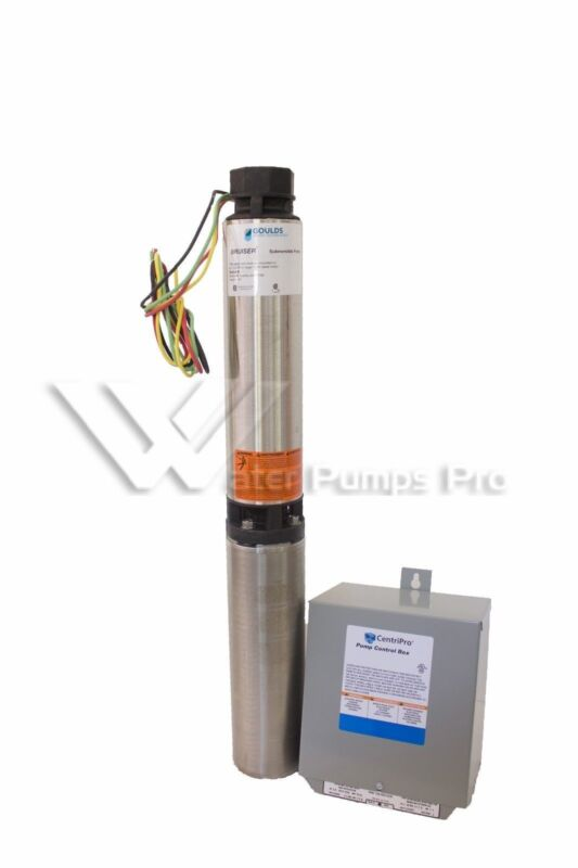 """18SB10412C Goulds 18GPM 1HP 4"""" Submersible Water Well Pump & Motor 3 Wire 230V"""