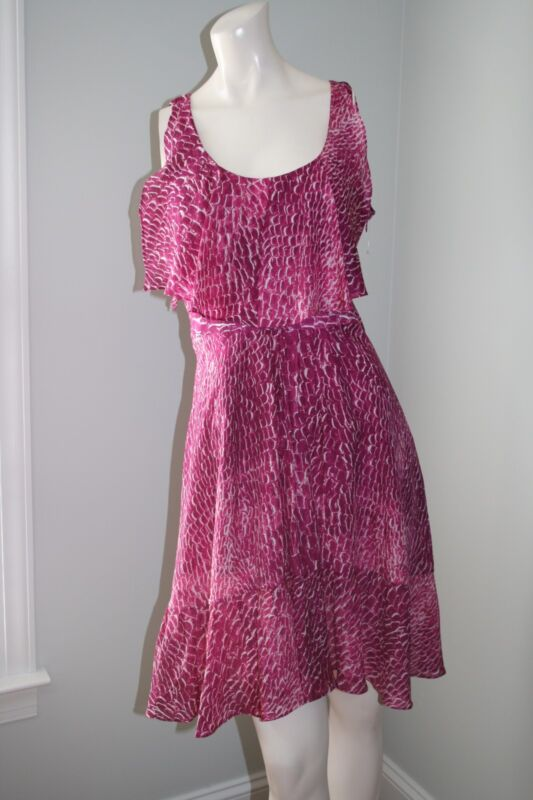 Pink Ruffle Top Dress by Cynthia Steffe Size 4