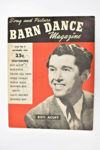 Vintage 1947 Barn Dance Magazine Issue No. 2 Roy Acuff Grand Ole Opry Monte Hale