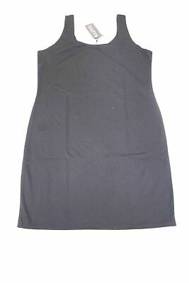 Boohoo Women's Plus Jess Ponte Scoop Neck Bodycon Dress CB4 Black US:12  NWT