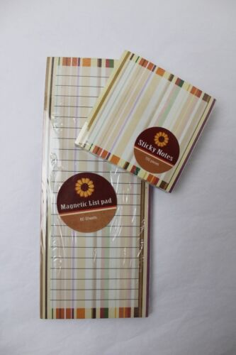 Matching Sticky Notes and Note Pad New