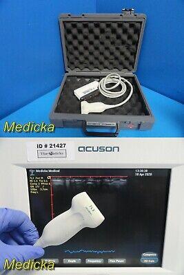 Siemens Acuson Cypress 7l3 Linear Array Ultrasound Transducer W Case  21428