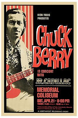 Chuck Berry at Memorial Coliseum in the Pacific Northwest Poster 1973