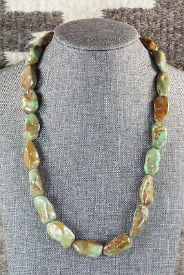 Turquoise Sterling Silver Necklace - Navajo - $90.00
