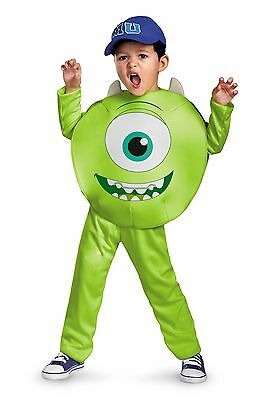 Monsters University Mike Costume Green Eye Toddler Disney Boys Kids Monster U