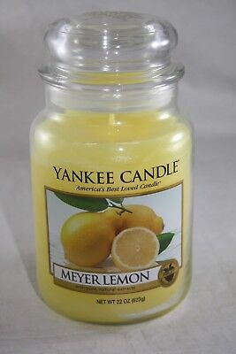 YANKEE CANDLE MEYER LEMON SCENTED WITH PURE,NATURAL EXTRACTS LARGE JAR 22 - Meyer Extract