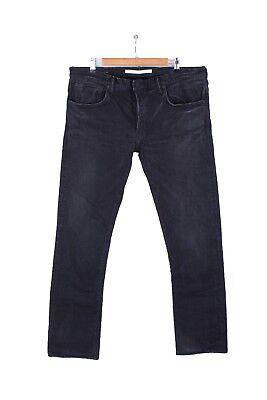 Mastercraft Union Jeans 01 Slim Taper Men's Black 38 34 Selvage Japan Denim MCU