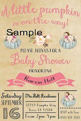 Little Pumpkin Baby Shower Invitation](Pumpkin Baby Shower Invitations)