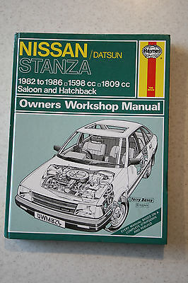 V.CHEAP - 824. HAYNES, NISSAN/DATSUN STANZA 1982 to 1986 OWNERS WORKSHOP MANUAL
