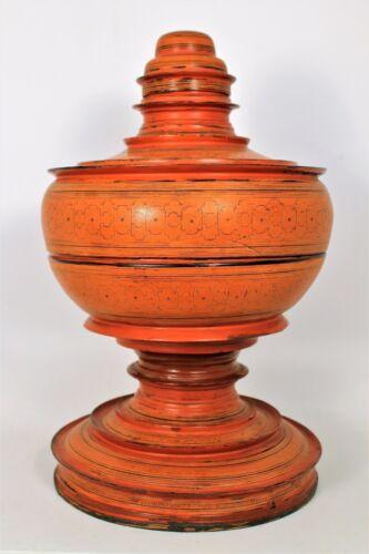 Myanmar  Burmese lacquer offering vessel (Hsun-ok).
