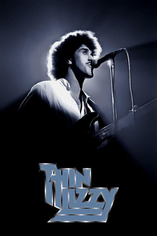 "Thin Lizzy Poster Art ""Renegade"" Phil Lynott Tribute Large 20x30 Print"