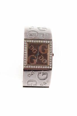 GUESS Analoguhr bronzefarben-anthrazit 90ies-Stil Damen Uhr Watch Analog Watch (Guess Watch Damen)