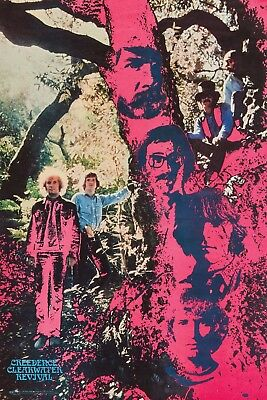 CREEDENCE CLEARWATER REVIVAL TRIPPY WOODS POSTER NEW  !
