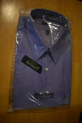 NWT Arrow Frosted Lilac Sateen Men's Shirt 18.5 36/37 XXL Wrinkle - Frosted Arrow