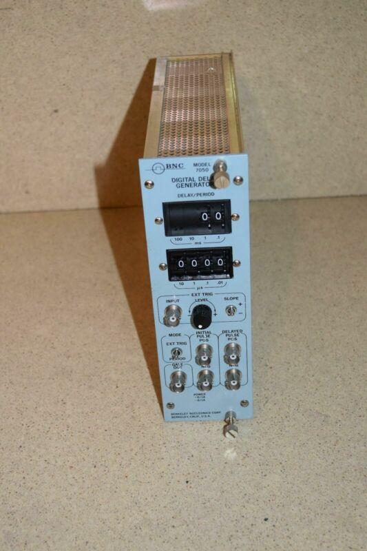 BNC MODEL 7050 DIGITAL DELAY GENERATOR NIM BIN PLUG IN (TP1006)