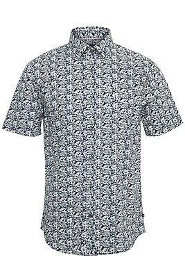 Matinique Summer Flower Print Shirt/Ink Blue - XL New Summer 2020