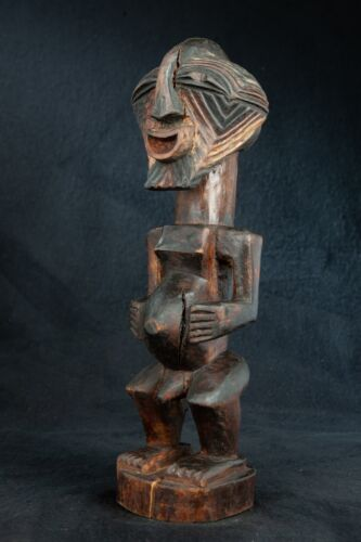 Songye Kifwebe Figure, Democratic Republic of Congo, Central African Tribal Art.