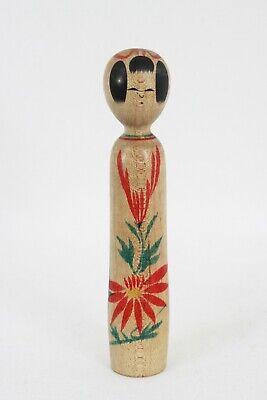 伝統小芥子 Dento Kokeshi Vintage Doll Japanese Handmade Made in Japan 048