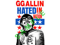 GG ALLIN 12x18 HATED IN THE NATION ALBUM COVER POSTER THE MURDER JUNKIES PUNK 1