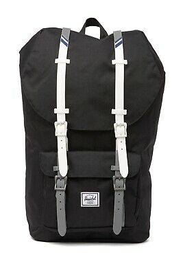 NWT Herschel Supply Co. Little America Backpack Black/White 10014-02685-OS Bag