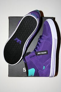 NEW SUPRA VAIDER PURPLE TEAL WHITE HIP HOP SKATE SPORTS JUSTIN BIEBER SHOES  8.5