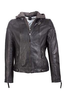 65ab667846 Gipsy Damen Biker Jacke Lederjacke neu Kapuze echt Glattleder schwarz  Motorrad*
