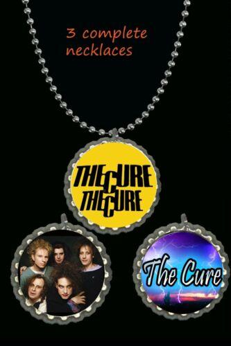 The Cure band necklace necklace photo picture lot  3 piece 3 complete necklaces