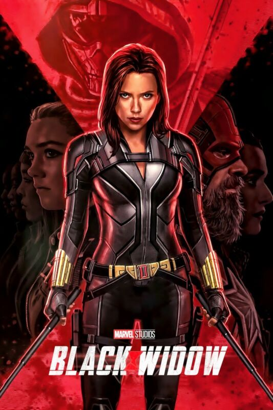 "Black Widow Poster 24x36/"" 14x21/"" 2020 Scarlett Johansson Art Print Silk"