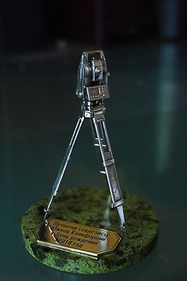 Gift Set For The Surveyor Tripod Tacheometer Stone Engraving Silver 925