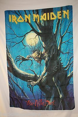 RARE! IRON MAIDEN Fear of the Dark Eddie Cloth Fabric Poster Flag Tapestry-New!