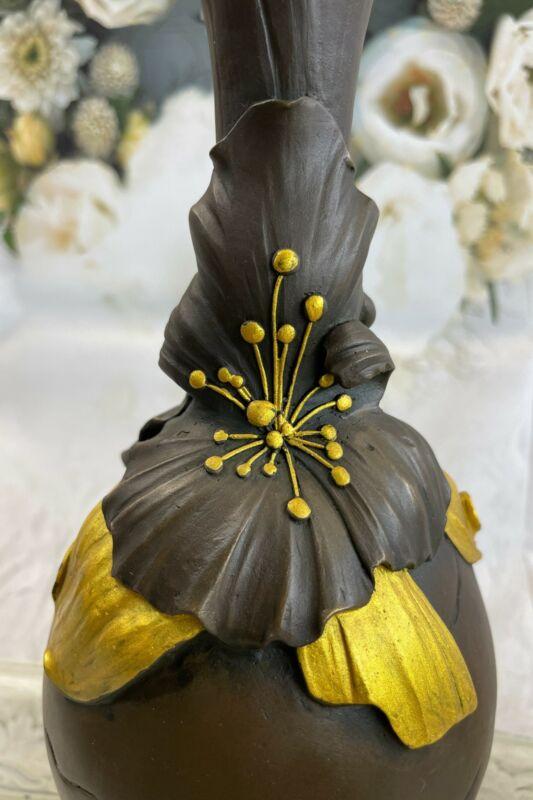 Young Girl on Vase Urn HomeOffice Bronze Decoration Decor Sculpture Figurine