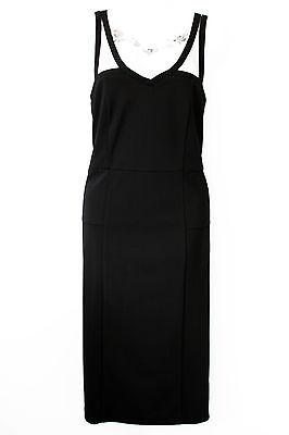 VERO MODA black pencil wiggle sweetheart dress - Gothic pin up retro evening 14