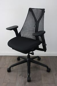 UK & EU DELIVERY | Herman Miller Sayl chairs | Black | Immaculate Seat Fabric