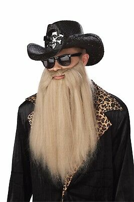 ZZ Top Sharp Dressed Man ZZ Top Duck Hunter Costume Beard Accessory (Zz Top Beard Halloween)