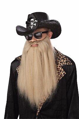 ZZ Top Sharp Dressed Man ZZ Top Duck Hunter Costume Beard Accessory