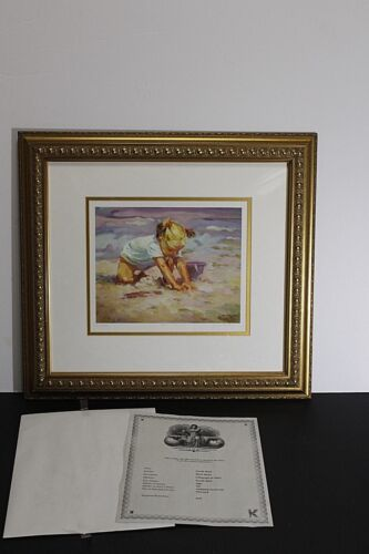 """beach Blonde""  Signed Lithograph By Artist Lucelle Raad"