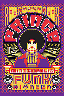 "Prince : Minneapolis ""Funk Pioneer "" Poster"