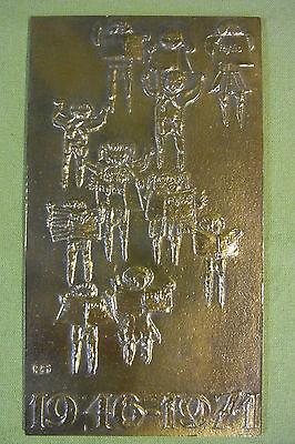 DDR - Ungarn - Plakette - Medaille - Pájtás - Kumpel - 1946 - 1971 - im Etui