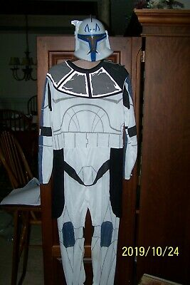 Captain Rex Costume (Boys Star Wars Clone Trooper Captain Rex Halloween Costume Size XL)