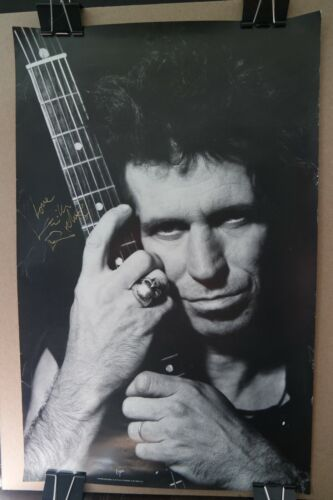 Vintage Rolling Stones Poster Signed By Keith Richards - 22 x 14 - autograph