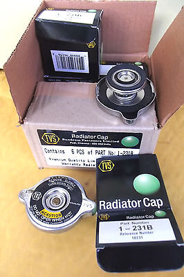 1 RADIATOR CAP 231B ,QUALITY MEETS OR SUPERSEDES LEADING BRAND BY TVS.2.5.