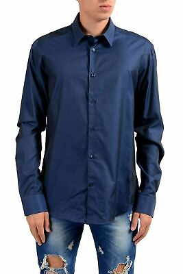 "Versace Collection ""Trend"" Men's Blue Long Sleeve Dress Shirt US 16.5 IT 42"