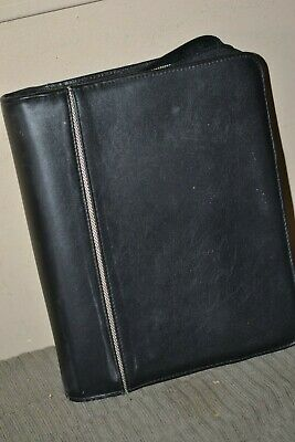 Franklin Covey Leather Black Binder Planner Classic 1 Inch Rings