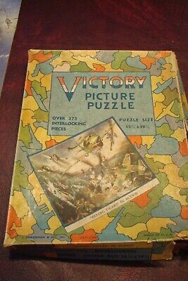Victory Picture Puzzle WWII Era Vintage Flying Tigers Aircraft Pressman Jigsaw