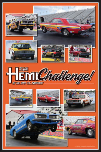 "2017 Hemi Challenge SS/AH Dodge Dart Plymouth Barracuda 20"" x 30"" Poster."