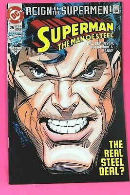 Superman The Man of Steel #25 1st Black Suit Costume 1993 Comic DC Comics F+ - Black Superman Suit Costume