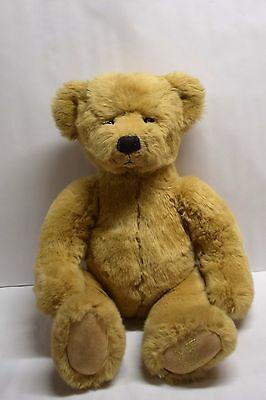 "Harrods 2003 Christmas Bear Plush 13"" Dated Harrod's Department Store London"