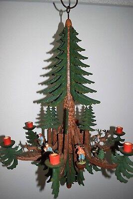 Alter Kerzenleuchter,Leuchterspinne,erzgebirgische Deckenspinne - Holz (465-17)