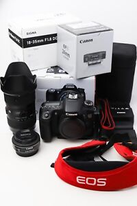 Canon 70D with 18-35mm & 24mm lenses in MINT condition