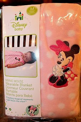 NEW 6 12 MOS DISNEY BABY MINNIE MOUSE WEARABLE BLANKET SLEEPING BAG BUNTING PINK